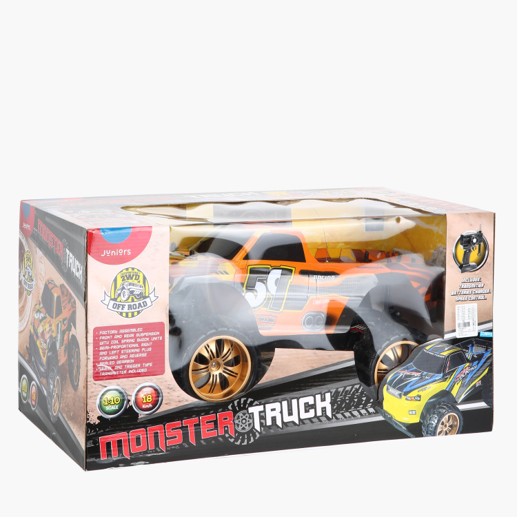 Juniors 1:10 Remote Control Monster Truck Toy