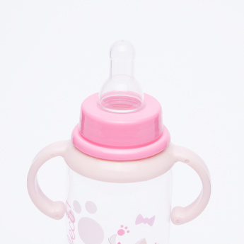 Marie the Cat Printed Feeding Bottle with Handles - 250 ml