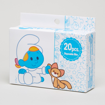 The Smurfs Printed 20-Piece Disposable Bib Set