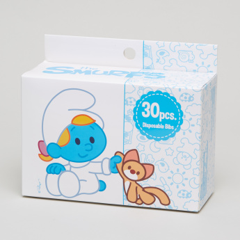 The Smurfs Printed 30-Piece Disposable Bib Set
