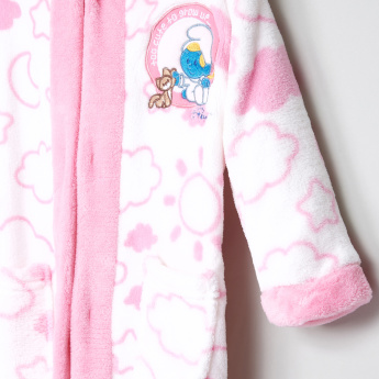 The Smurfs Printed Bathrobe