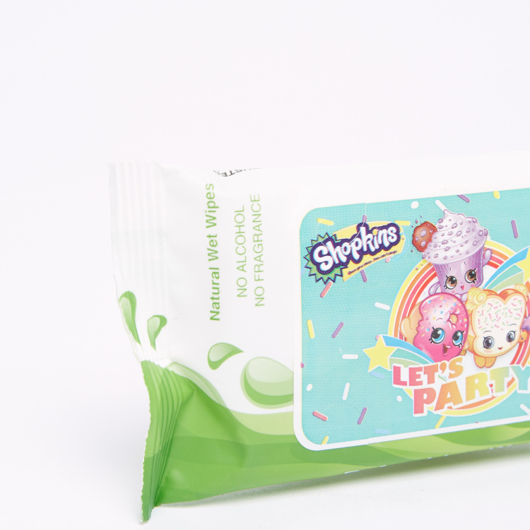Shopkins 10-Piece Natural Wet Wipes Pack