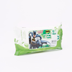 Justice League Batman Extra Sensitive 12-Piece Wet Wipes