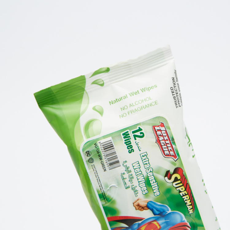 Superman Extra Sensitive12-Piece Wet Wipes Pack