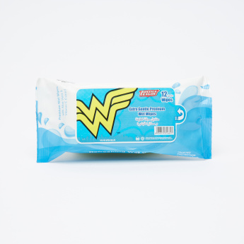 Wonder Woman Extra Gentle 12-Piece Premium Wet Wipes