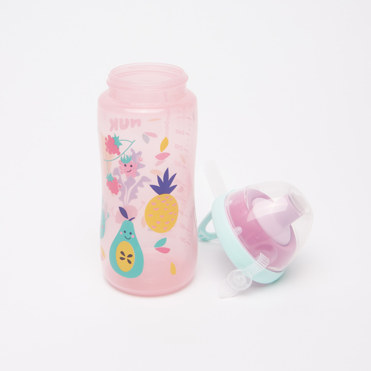 NUK Printed Flexi Cup with Straw - 300 ml