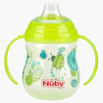 Nuby Printed Free Flow Spout Sipper with Handle - 270 ml