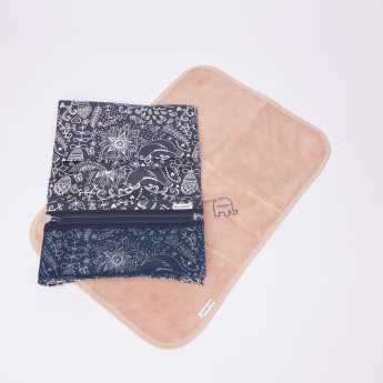 MELOBABY Printed All-in-One Nappy Wallet with Changing Mat