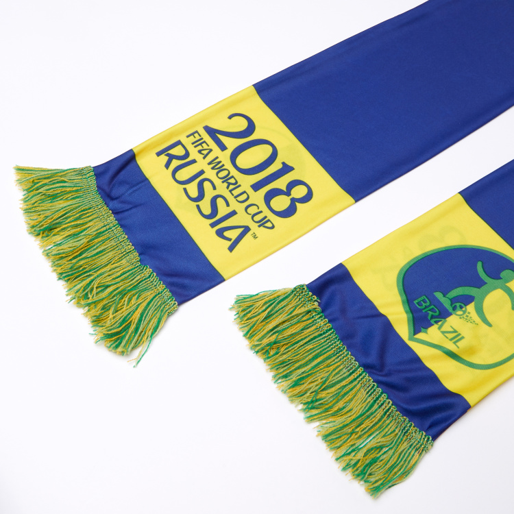FIFA 18 Brazil Printed Scarf with Fringes
