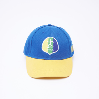 FIFA 18 Brazil Printed Cap with Hook and Loop Closure