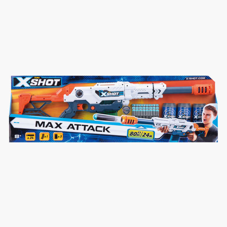 X-SHOT Clip Max Attack Gun Playset