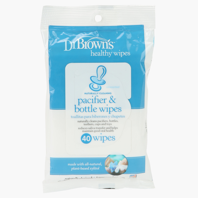 Dr Brown's Pacifier and Bottle Wipes - Set of 40
