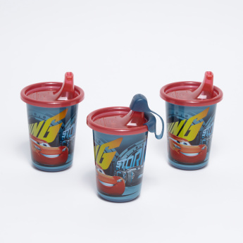 The First Years Cars Printed 3-Piece Sipper Cup Set - 295 ml