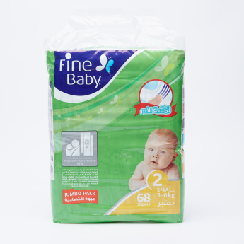 Fine Baby 68-Piece Jumbo Pack Baby Diapers - Small
