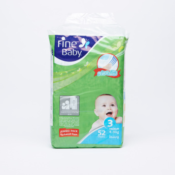 Fine 52-Piece Baby Diapers - Medium