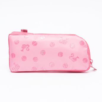 Barbie Printed Pencil Case with Zip Closure