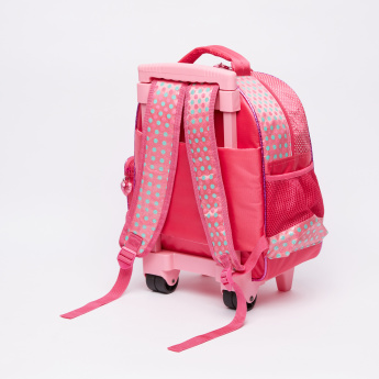 Marie the Cat Printed Trolley Backpack with Zip Closure