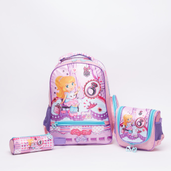Juniors Printed Round Pencil Case with Zip Closure