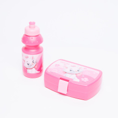 Marie the Cat Printed Lunchbox with Water Bottle