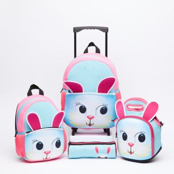 Juniors Printed Trolley Backpack with Zip Closure