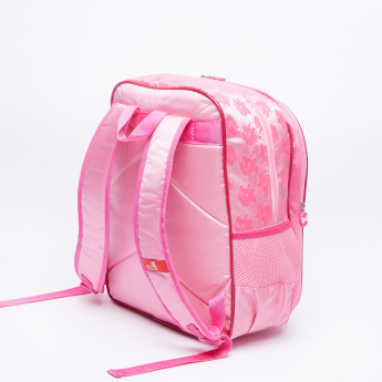 Marie Printed Backpack with Zip Closure and Adjustable Shoulder Straps