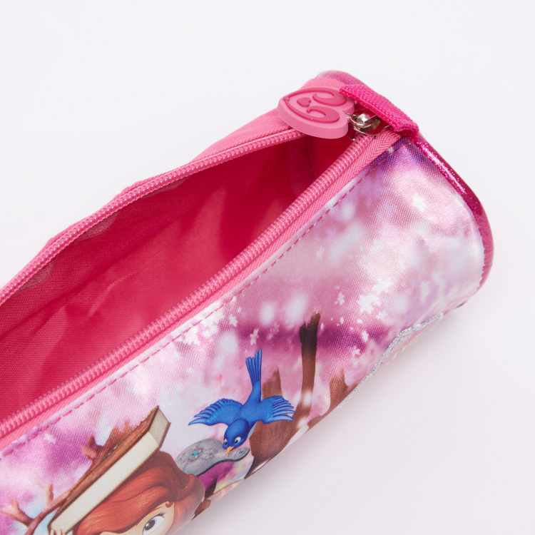 Sofia the Princess Printed Pencil Case with Zip Closure