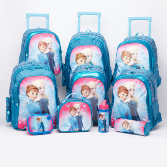 Frozen Printed Trolley Backpack with Zip Closure