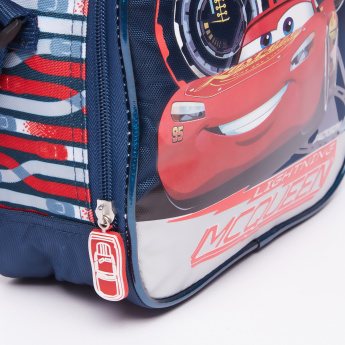 Cars Printed Lunch Bag with Zip Closure