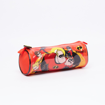 The Incredibles Round Pencil Case with Zip Closure