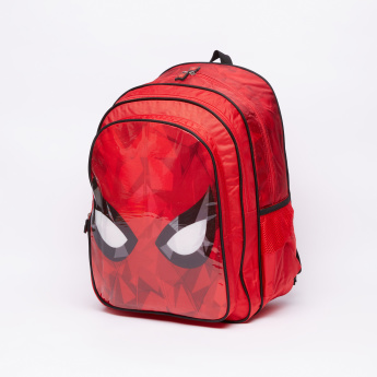 Spider-Man Printed Backpack with Zip Closure