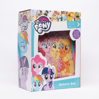 My Little Pony Printed 5-Piece Trolley Backpack Set