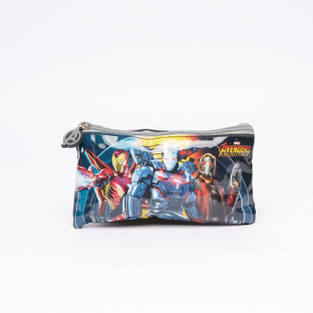 Avengers Printed 5-Piece Trolley Backpack Set