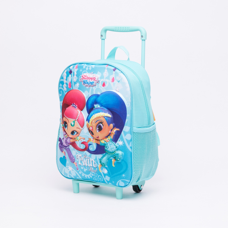 Shimmer and Shine Printed 3-Piece Trolley Backpack Set