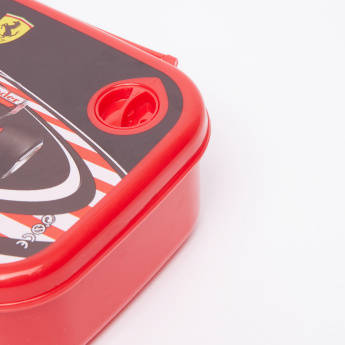 Ferrari Printed Lunchbox with Clip Closures