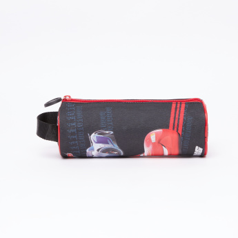Cars Printed Pencil Case with Zip Closure