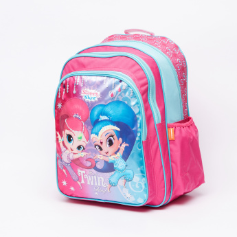 Shimmer and Shine Printed Backpack with Adjustable Straps