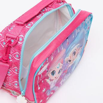 Shimmer and Shine Printed Lunch Bag with Zip Closure