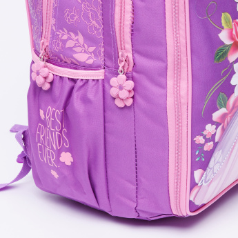 Sofia the First Printed Backpack with Zip Closure
