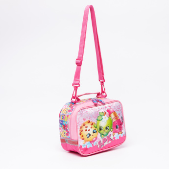 Shopkins Printed Lunch Bag with Zip Closure