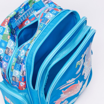 PJ Masks Printed Backpack with Zip Closure and Adjustable Straps