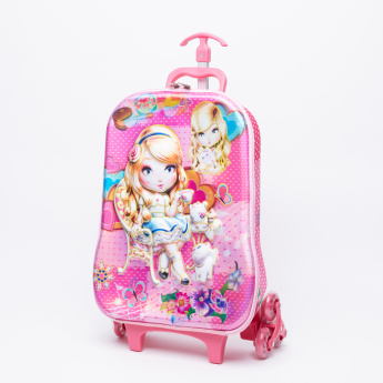 Juniors Doll Printed 3-Piece Trolley Backpack Set