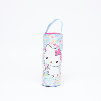 Hello Kitty Printed Pencil Case with Zip Closure and Handle