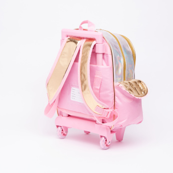 My Melody Printed Trolley Backpack with Zip Closure