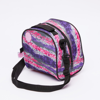 MAUI and Sons Printed Lunch Bag with Zip Closure