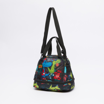 LYC SAC Dinosaur Printed Lunch Bag with Zip Closure