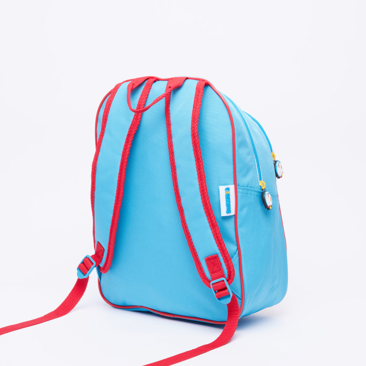 Doraemon Printed Backpack with Zip Closure