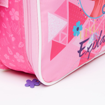 Dora the Explorer Printed Lunch Bag with Zip Closure