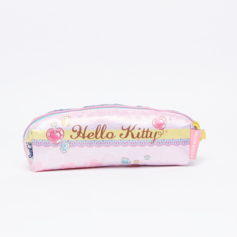 Hello Kitty Printed Pencil Case with Zip Closure