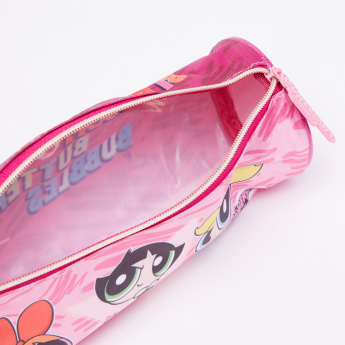 The Powerpuff Girls Printed Pencil Case with Zip Closure