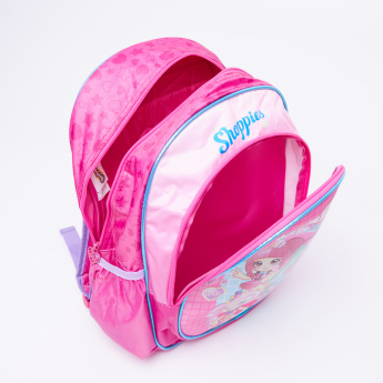 Shopkins Printed Backpack with Zip Closure and Adjustable Strap